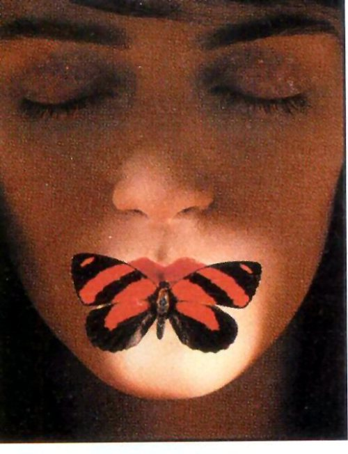 LIPS WITH BUTTERFLY