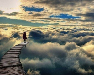 path in the clouds