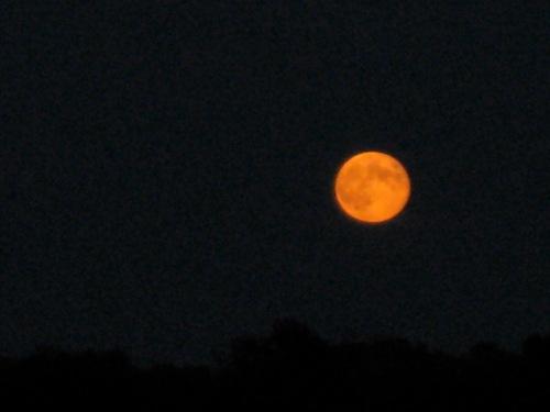 full moon on the Dease