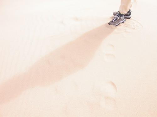 SHadow on Dunes, California