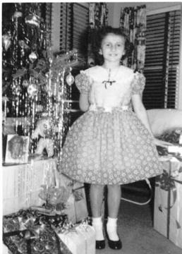 Me  1956 pink dress blk n white