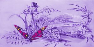 woman n butterfly purple